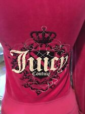 NWT Juicy Couture Tracksuit Velour size Large Hoodie Medium Pants Pink Paula