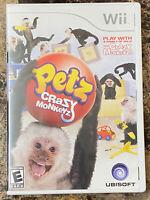 Petz Crazy Monkeyz Nintendo Wii Game Complete!