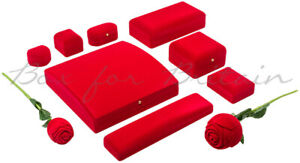 Red Velvet Jewellery Boxes Ring Bracelet Bangle Watch Necklace....Box Wholesale