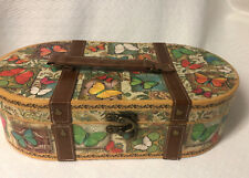 PUNCH STUDIO KIRSHNER BUTTERFLY DECORATIVE OVAL ART COLLECTION BOX