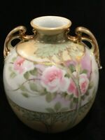 Antique Nippon Hand Painted Pillow Vase