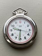 Victorinox Swiss Army Pocket Watch 24720 With Pouch *** Needs New Movement ***