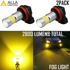 Alla Lighting H16 72-LED Super Bright Yellow 3000K LED Driving Fog Light Bulb VS