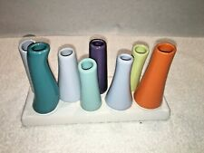CHIVE Pooley 2 Ceramic Flower Bud Vase 8 Tube Shape Multi Colors