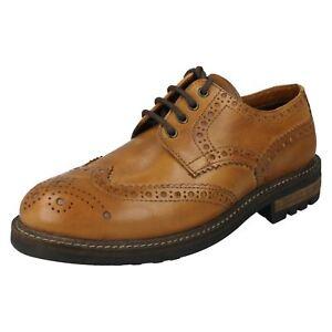 Red Tape Quebec Men/'s Smart Leather Slip On Designer Dress Shoes Brown
