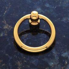 Cabinet Pendant Furniture Hardware Drawer Drop Ring Pull Knob Polished Brass