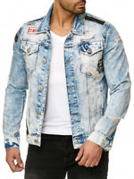 REDBRIDGE BY CIPO & BAXX MOTOR MENS JEANS JACKET BIKER DENIM ALL SIZES
