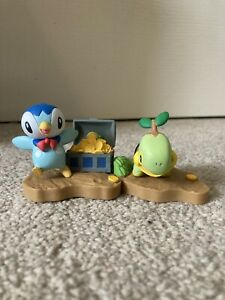 RARE Piplup And Turtwig Pokemon Mystery Dungeon Figure Diorama Tomy NEW