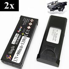 2x 3,7v 900mAh Lipo RC Akku Batterie Drohne TIANQU VISUO XS809W XS809S XS809HW