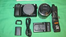 Sony Alpha a6000 Mirrorless Camera -sel1855lens 18-55 zoom Lens - ILCE6000L/B
