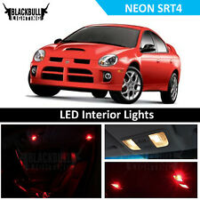 Red LED Interior Lights Accessories Package Kit fits 2003-2005 Neon SRT4 6 bulbs