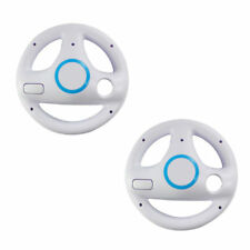 2PCS Mario Kart Racing Steering Wheel Add-on for Nintendo Wii Remote White Color