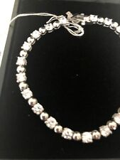 Fine Jewelry sterling silver Tennis Braclet With Zirconia Stones 7""