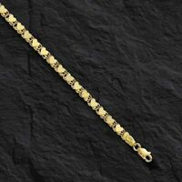 "14kt Yellow Gold Mirror HEART Link Chain Necklace 18""  3.3mm   8 grams"