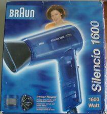 SECADOR DE PELO BRAUN SILENCIO PX 1600 -220V / 1600W- Color Azul Transparente