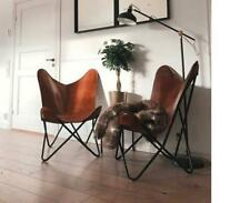 Vintage Leather Relax Butterfly Chair Living Room Chairs Replacement Only Cover