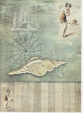 Rice Paper for Decoupage Decopatch Scrapbook Craft Sheet On the Beach Post Card