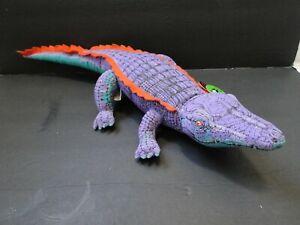 NWT 1992 Applause Purple Nile Crocodile Plush