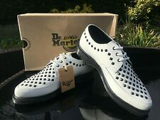 Dr Martens white smooth leather Willis stud creepers UK 6 EU 39 BNIB RRP £140.00