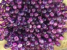 CRACKLE CRYSTAL GLASS BEADS 8 MM SOLD BY 200 BEADS LOOSE OR BY STRAND