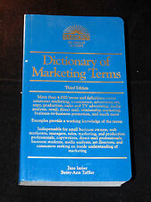 Dictionary of Marketing Terms by Jane Imber & Betsy-Ann Toffler Business College