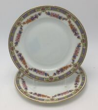 Czechoslovakia Epiag Normandy #5529 2 Bread & Butter Plates Multifloral Swags