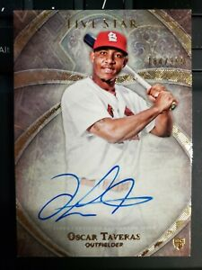 2014 Five Star Oscar Taveras On Card Auto RC 184/399 Cardinals Deceased
