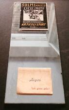 SPECCHIO PUBBLICITARIO + CALENDARIETTO 1956 NEGOZIO CICLI MOTO BOLOGNA SOLMI -AA