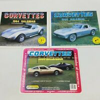 Vintage Corvette Calendars Lot of 3 - 1984, 1985, 1986 (36 Photos, 36 Cars)