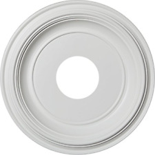 """Ekena Millwork Cmp13Tr Traditional Thermoformed Pvc Ceiling Medallion, 13""""Od x 3"""