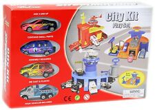 Die Cast Metal Plastic City Kit Vehicle Playset ~ Auto Shop
