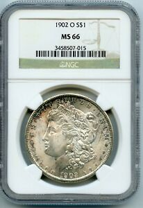 1902-O MORGAN SILVER DOLLAR $1 NGC MS66 (#24a 10/24 GP)