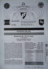 Faninfo 1998/99 Hannover 96 - FC St. Pauli