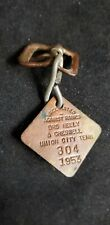 Vintage 1953 Dog License Rabies Tag UNION CITY, TN. Dr. Neely & Creswell.