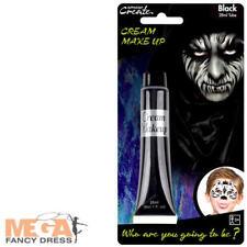Black Cream Make Up Fancy Dress Halloween Spooky Kids Adults Costume Face Paint