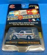Racing Champions Fire Rescue Grand Chute WI Fire Rescue 1980 Ford Bronco
