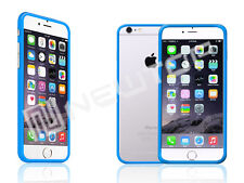 cover custodia BUMPER per IPHONE 6 PLUS celeste + TRASPARENTE NEWTOP®