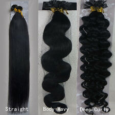 "100s Keratin Nail U Tip Glue 100% Remy Human Hair Extensions 18""-32""  All Colors"