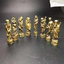8Pcs Chinese Buddha Bronze old copper Eight Immortals (Ba Xian)Brass statue s
