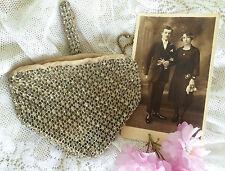 Vintage Art Deco 1920s 30s Czech Diamante Rhinestone Clutch Bag Purse. Bridal