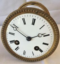 A Nice French 8 Day Bell Striking Clock Movement & Dial By Japy Freres