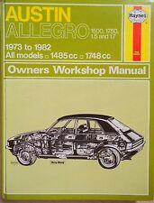 Austin Allegro 1500 & 1750 Haynes Workshop Manual from 1973 to 1982.