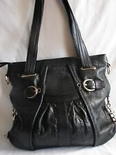 c166ba0416 JUNIOR DRAKE Pleated Leather Hobo Shoulder Bag Handbag