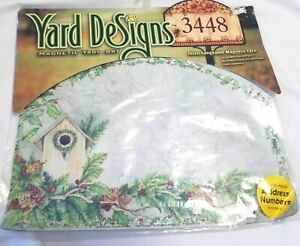 Yard DeSigns Bird House Holly Welcome  Magnetic Yard Sign Art New in Package