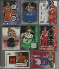 14 Team Assortment - 21 Card Lot - Game/Event Worn Used Jersey Basketball