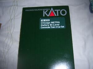 Kato N GAUGE106-8702 CHICAGO METRA GALLERY BI-LEVEL COMMUTER TRAIN 3-CAR SET