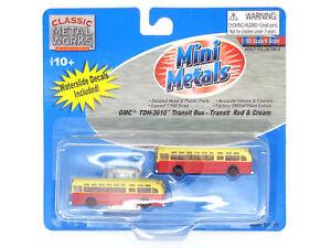 GMC TDH-3610 Transit Bus Set Red & Cream N - Classic Metal Works #52306 vmf121