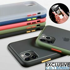 Case For iPhone 11 Pro Max XS XR 6 7 8 Liquid SILICONE + Glass Screen Protector
