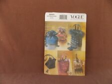 Vogue Misses Evening Bags Uncut Pattern 9893