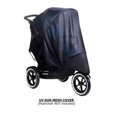 Pare-soleil et capotes noirs pour poussette et système combiné de promenade pour bébé phil&teds